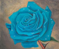 Rose of blues by TeresaOstbye
