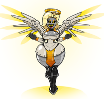 Overwatch Ideas: Mercybot 2.0 by Redflare500