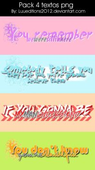 .Pack 4 textos png by LuuEditions2O12
