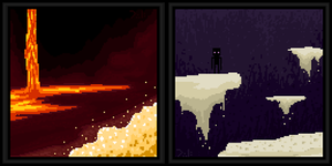 :Pixel Painting: End and Nether by owlmaddie