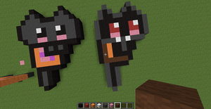 Baby Nyan Cat and Baby Tac Nayn in Minecraft by lolhooplacatz