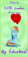 MLP Valentine RainbowDash2 by JiMMY--CHaN