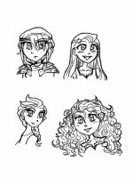 Animated gals! by dolphin5556