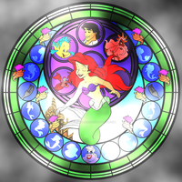 Ariel Stained Glass (Mermaid) by spongefan257