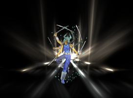 Spiral Dance of 6 Blades by Shinigami-xiii