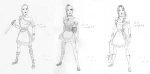 Alice - Game Character Concepts by tiikay