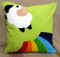 Spring Cushion Coussin Printanier by MUbyGaelle