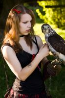 Not-so-noble Lady with a bird by morgoth87