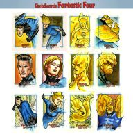 Fantastic Four Sketchcards 03 by taguiar