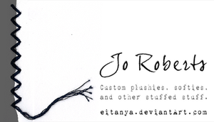 Jo Roberts business card by eitanya