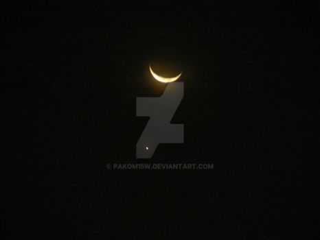 Crescent Moon and star by pakom15w
