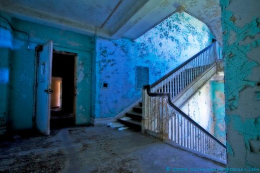 Asylum Stairway by cathedralsofdecay