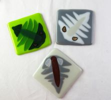 Trilobite Tile Trio by trilobiteglassworks