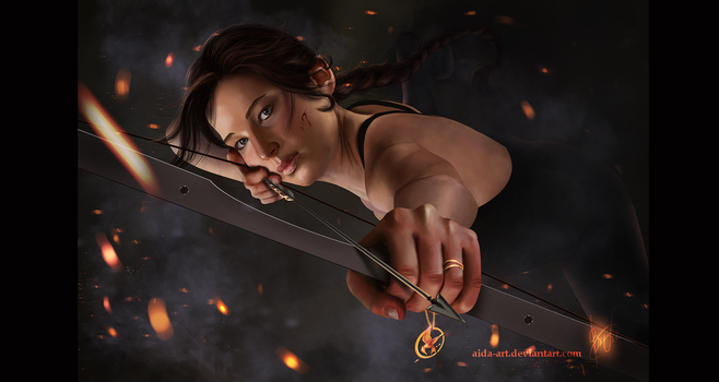 Katniss Everdeen: the Mockingjay by Inna-Vjuzhanina