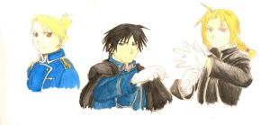 Fullmetal Alchemist Watercolor Studies by FullmetalFlame29