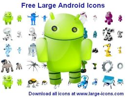 Free Large Android Icons by shockvideo