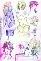 ARAKAWA UNDER THE BRIDGE SKETCHES by Bippie