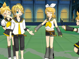 MMD:Kagamines by DarkRainbow-ish