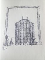 Nelson Hall Sketch by DrZurnPhD