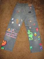 8-Bit Pixel Jeans, Back by GoodAsh03