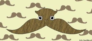 moustache monster by snorasaurus