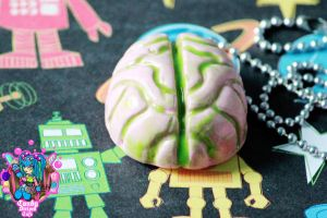 ooey gooey brains necklace by CandyStripedCafe