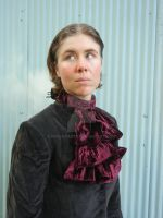 Gothic Burgundy  jabot by FrockTarts