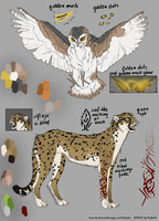 Adoptables - Owl and Cheetah by Anipurk