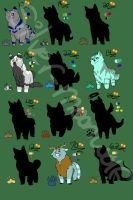 12 Silhouette Adoptables! [7 STILL OPEN!] by silver-moonwolf