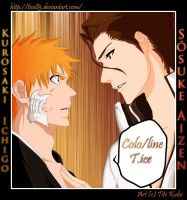 Bleach : Ichigo and Aizen by Tice83