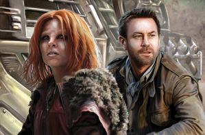 Defiance Nolan and Irisa by TheArtofScott