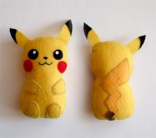 Pikachu pokemon plushie by yael360