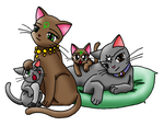 Guardian Cat Family by SaturnGrl