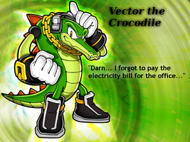 Vector the Crocodile Wallpaper by Herman-da-German