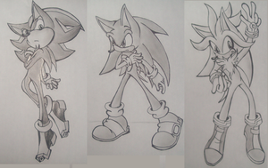 Shadow, Sonic and Silver by Shirokaze2012