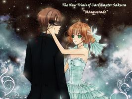 Sakura and Syaoran - Masquerade by wishluv
