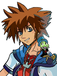 KH - Sora and Jiminy by kngdmhrts2