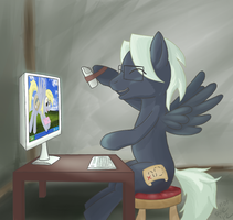 Poodle Puff Got Mail (giftart) by Im-not-sue