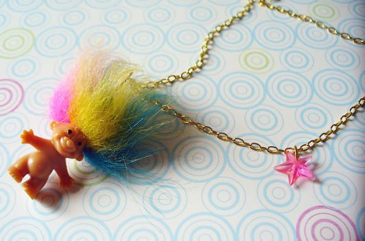Trollin' Around Necklace by paperdolldreams