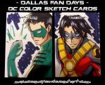 commission. dallas fan days 2013 sketch cards III by maioceaneyes