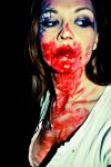 Halloween makeup with blood by M00N-flower