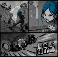 Nancy Nitro Web Comic Preview by romidion