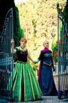 Elsa and Anna Coronation Cosplay by Phadme