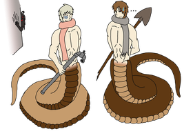 Russian Nagas by HybridPersonality