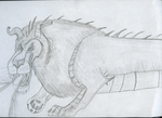 Chimera sketch drawing by Dragonfire810