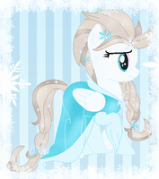 Elsa tha Pegasus of Winter by NightmareLunaFan