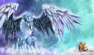 Ice battle by LovelessRapture