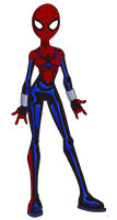 Lazy Spider-Girl Drawing by Glee-chan