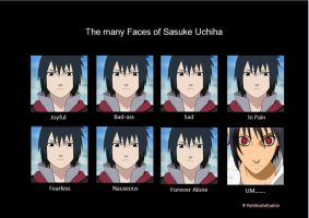 The many Faces of Sasuke Uchiha by paintbrushofjustice