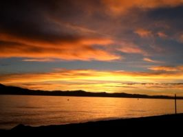 Sunset over lake tahoe by frostfire141